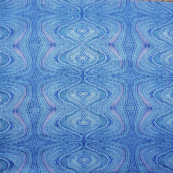 alabastro water blue fabric