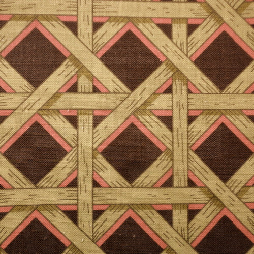 Basket Weave Brown Coral