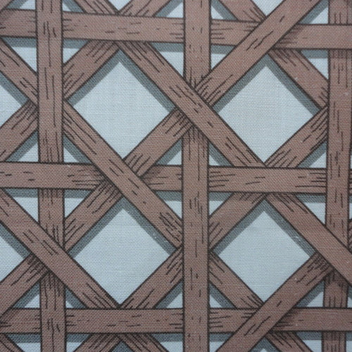 Basket Weave Brown White