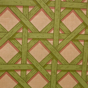 Basket Weave Green Brown