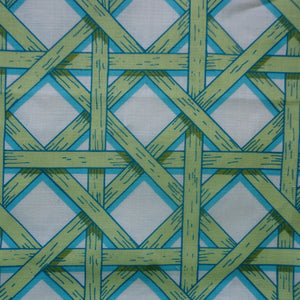 Basket Weave Turquoise Green
