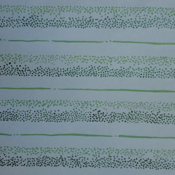 dotty stripe green white fabric