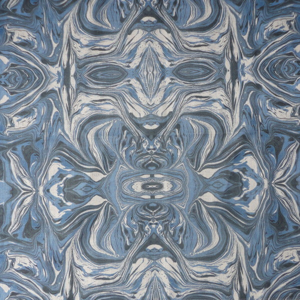 marmo blue & white fabric