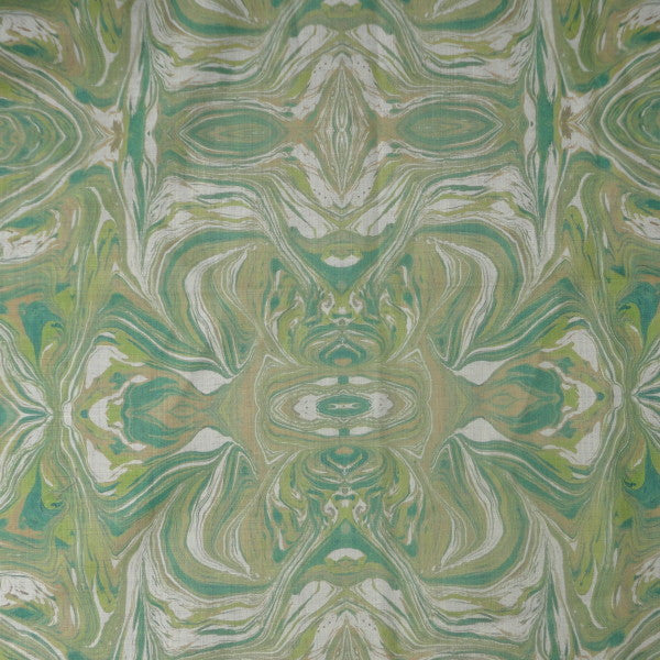 marmo green & tan fabric