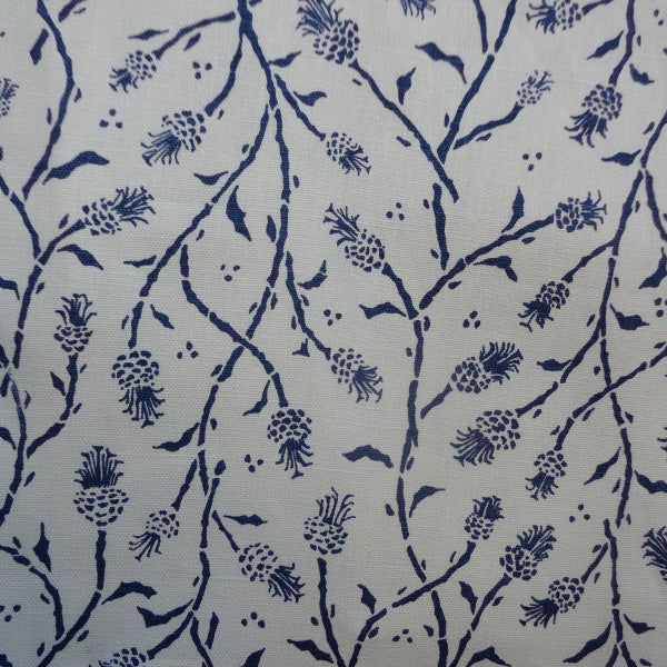 pineapples blue white fabric