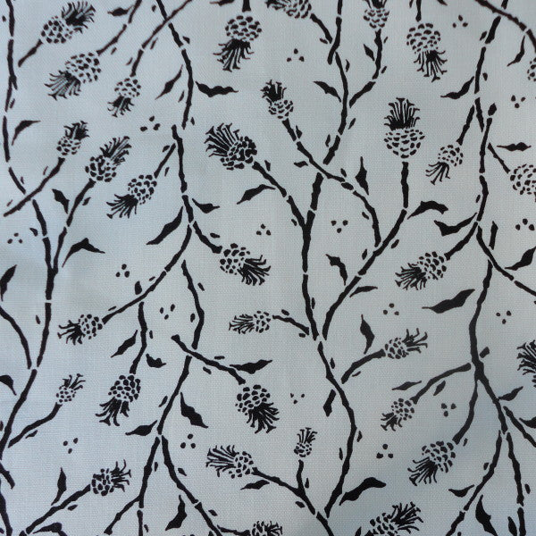 pineapples charcoal oyster fabric