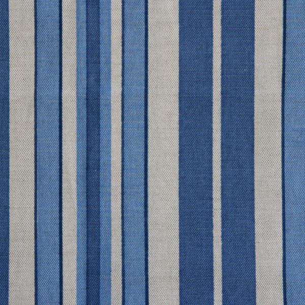 siena stripe tuscan blue oatmeal fabric