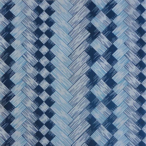 wicker screen blue fabric