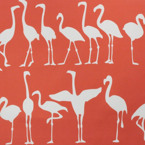 Flamingo Parade Coral Reverse Fabric