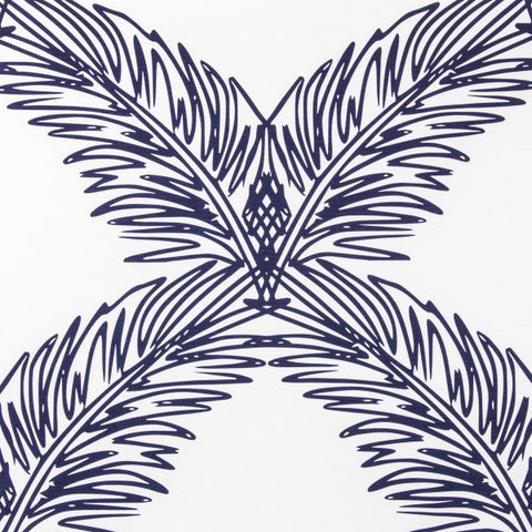 Palm Trellis Navy Fabric