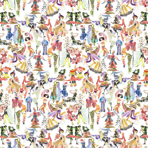 Ballets Russes Mini on Diaghilev Wallcovering
