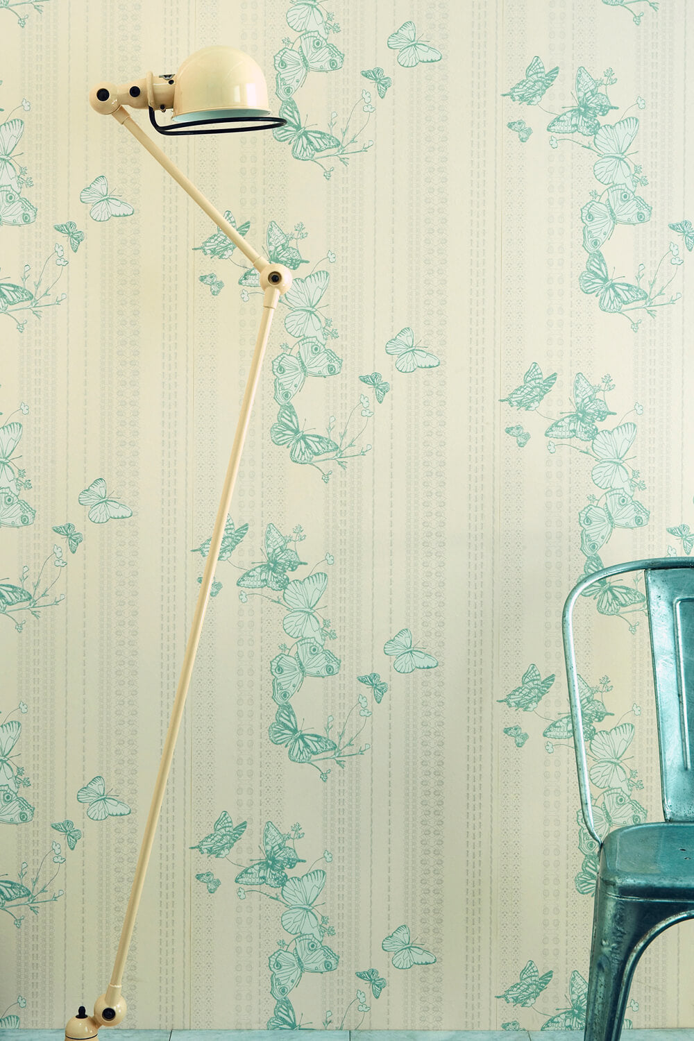 Bugs & Butterflies - Ice Blue Wallcovering