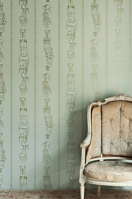 Chairs - Eau De Nil Wallcovering