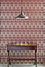 Load image into Gallery viewer, Chess - Burgundy Wallcovering