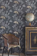 Load image into Gallery viewer, Coral - Charcoal Gold Wallcovering