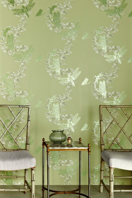 Dragonfly - Apple Green Wallcovering