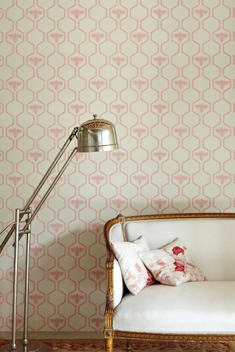 Honey Bees - Rose On Stone Wallcovering