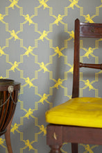 Load image into Gallery viewer, Horse Trellis - Acid On Grey Wallcovering
