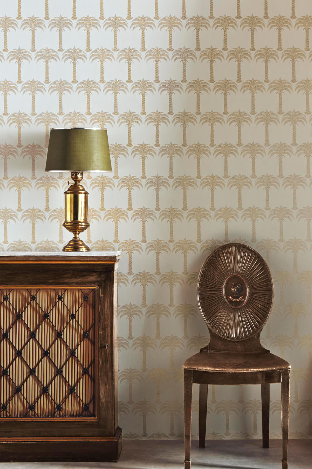 Marrakech Palm - Soft Gold Wallcovering