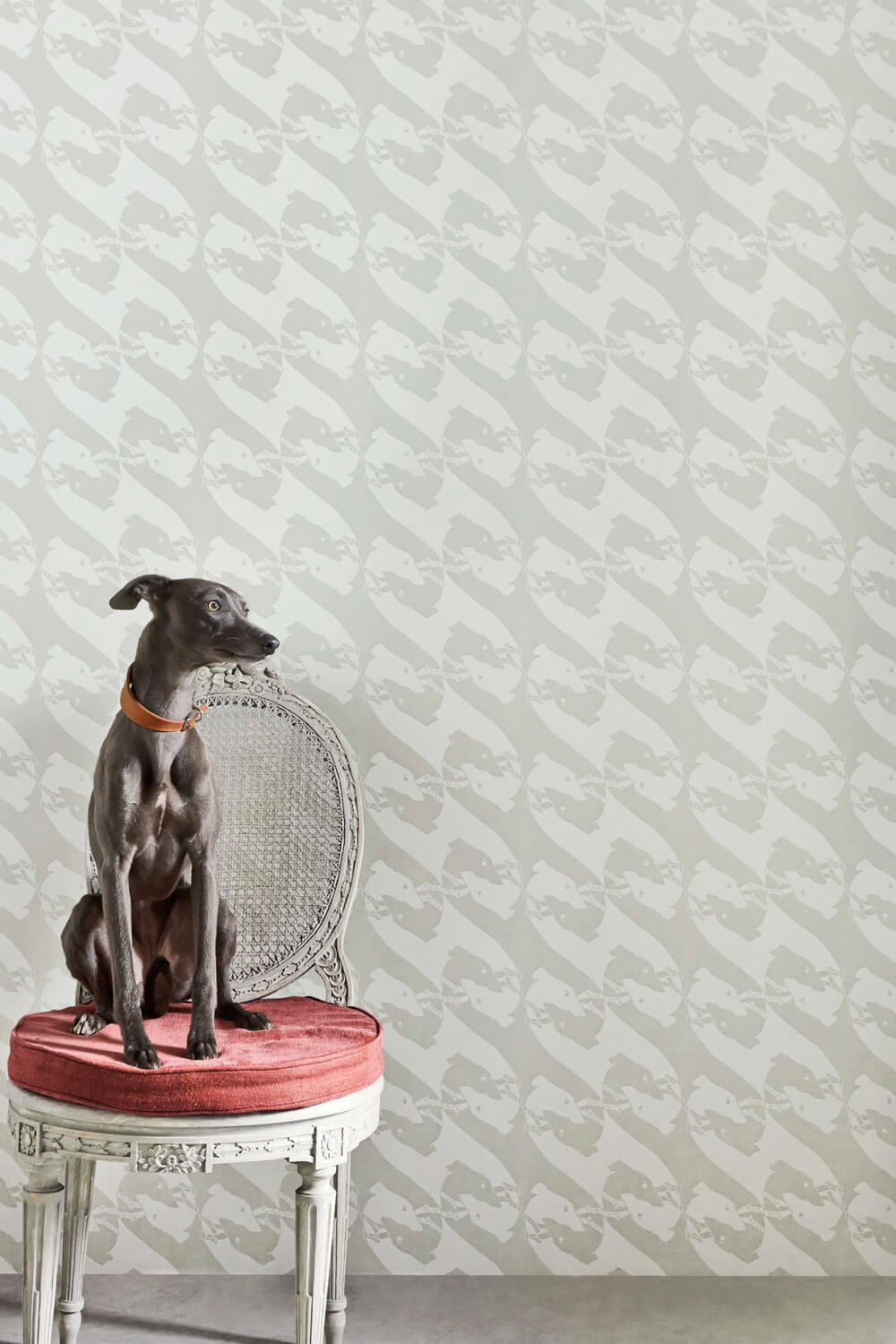 The Dogs - Pale Grey Wallcovering