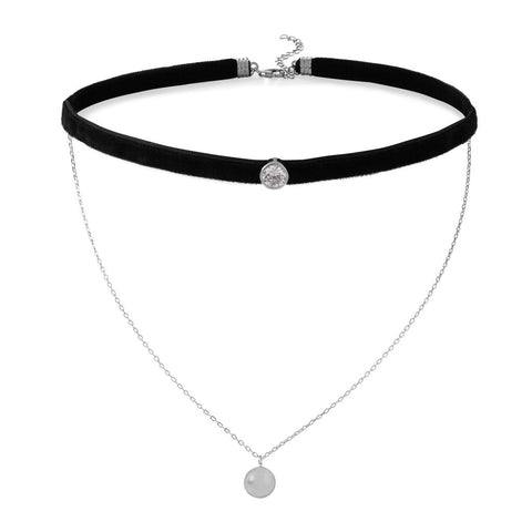 black velvet choker necklace online