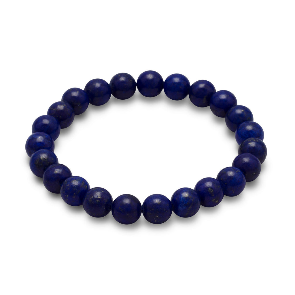 Lapis Bead Stretch Bracelet