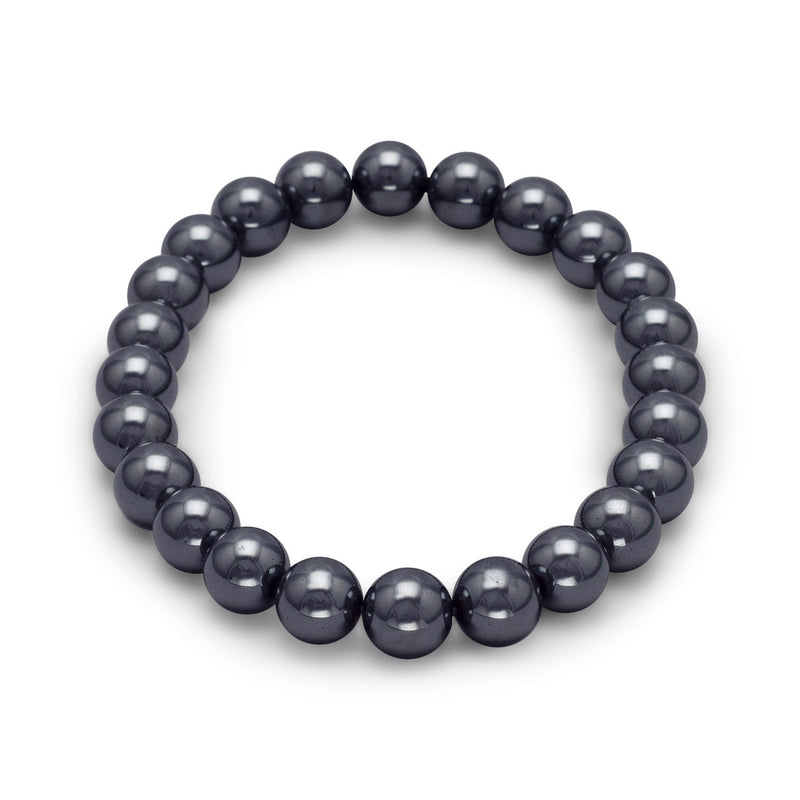 Hematite Bead Stretch Bracelet