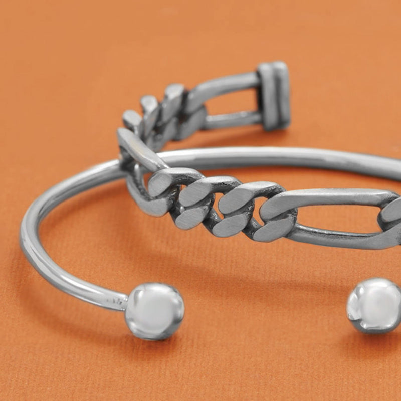 Men's Cuff Bracelet with Ball Ends
