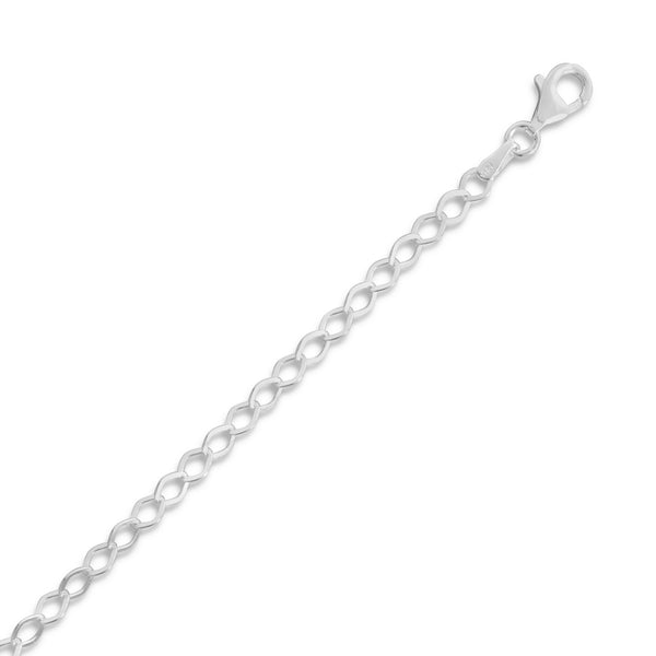 Flat Diamond Shape Link Chain Anklet
