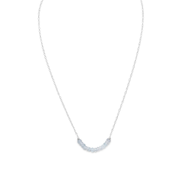 Faceted Aquamarine Bead Necklace _ÑÐ March Birthstone