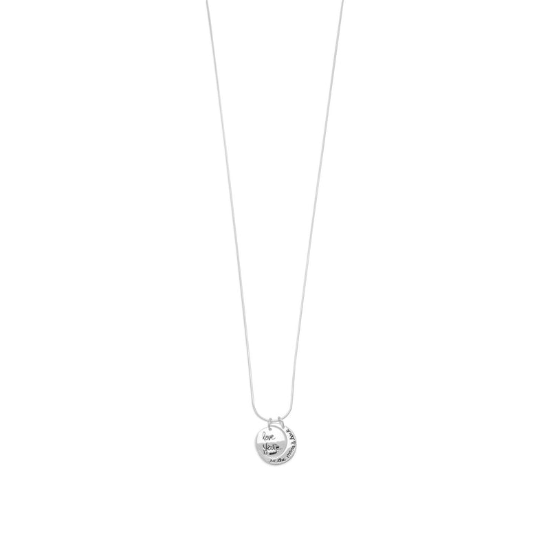 "18"" Love You to the Moon and Back Charm Necklace"