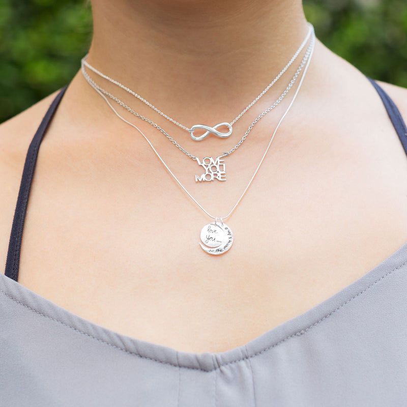 Love You to the Moon and Back Woman Necklace