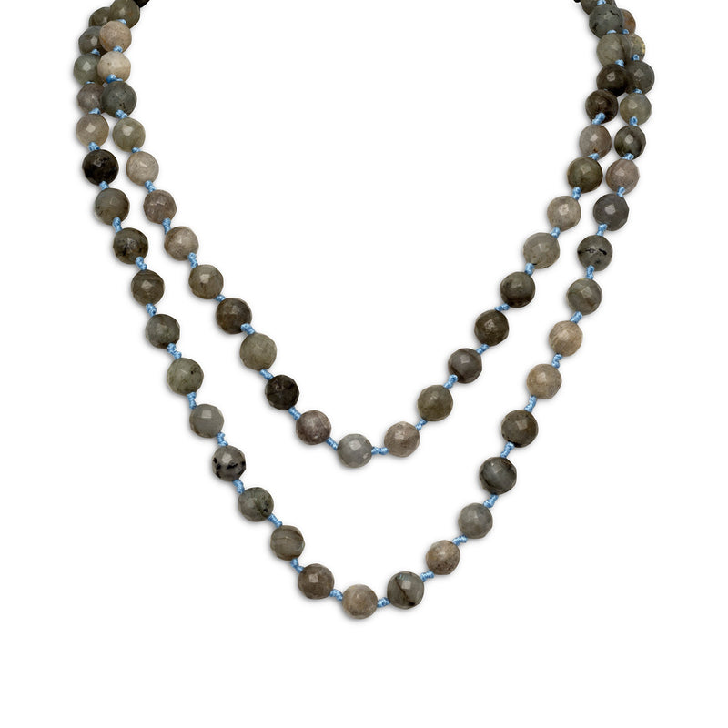 "38"" Endless Knotted Labradorite Necklace"