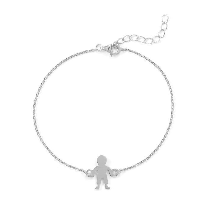 Rhodium Plated Boy Bracelet