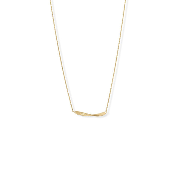 "16"" + 2"" 1/2 Twist Textured Bar Necklace"