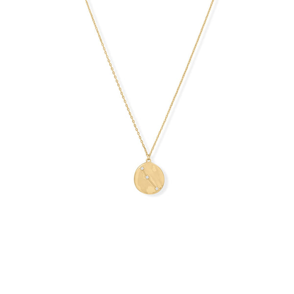 "Cosmic Constellations! 16"" + 2"" Aries Coin Necklace"