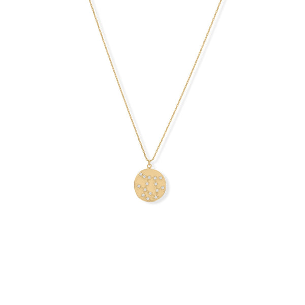 "Cosmic Constellations! 16"" + 2"" Gemini Coin Necklace"