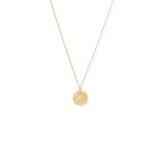 "Cosmic Constellations! 16"" + 2"" Libra Coin Necklace"