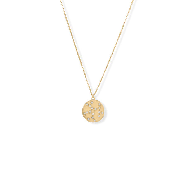"Cosmic Constellations! 16"" + 2"" Sagittarius Coin Necklace"