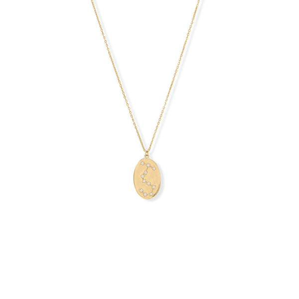 "Cosmic Constellations! 16"" + 2"" Scorpio Oval Coin Necklace"