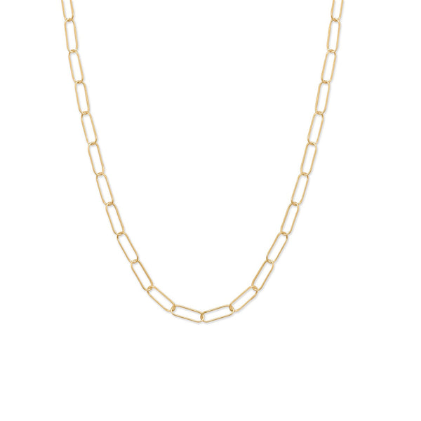 "18"" 14/20 Gold Filled Paperclip Necklace"