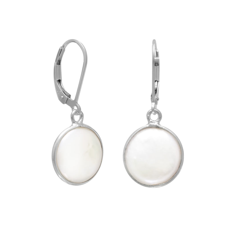 10mm Cultured Freshwater Coin Pearl Earrings