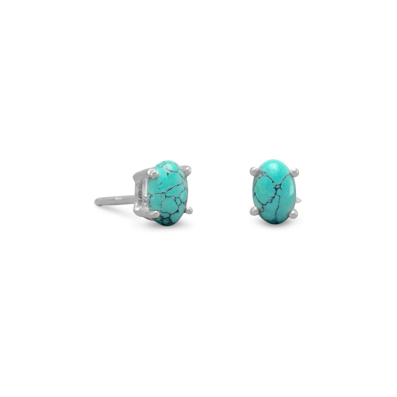 Stabilized Turquoise Stud Earrings