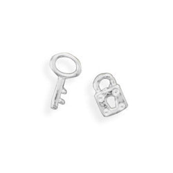 Lock and Key Stud Earrings