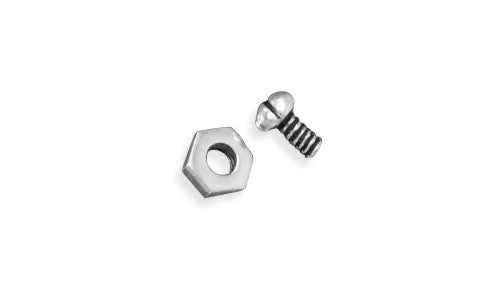 Oxidized Nut and Bolt Stud Earrings