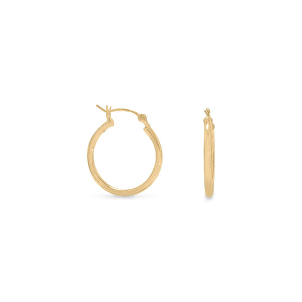 2mm x 20mm Gold Plated Click Hoop