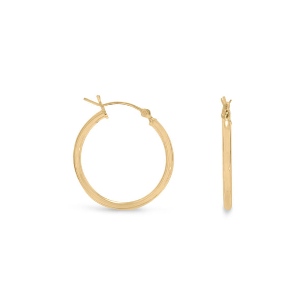 2mm x 24mm Gold Plated Click Hoop