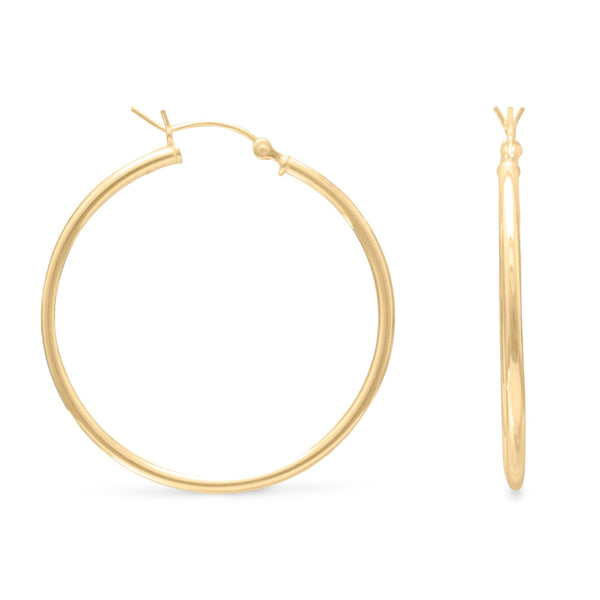 2mm x 50mm Gold Plated Click Hoop