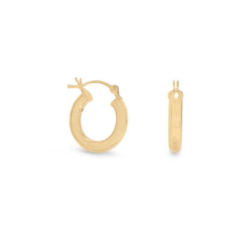 3mm x 18mm Gold Plated Click Hoop