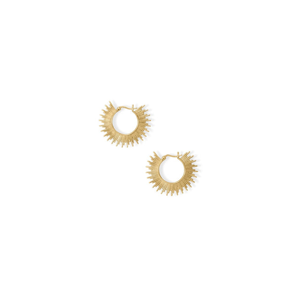 Shine On! 14 Karat Gold Plated Sunburst Earrings